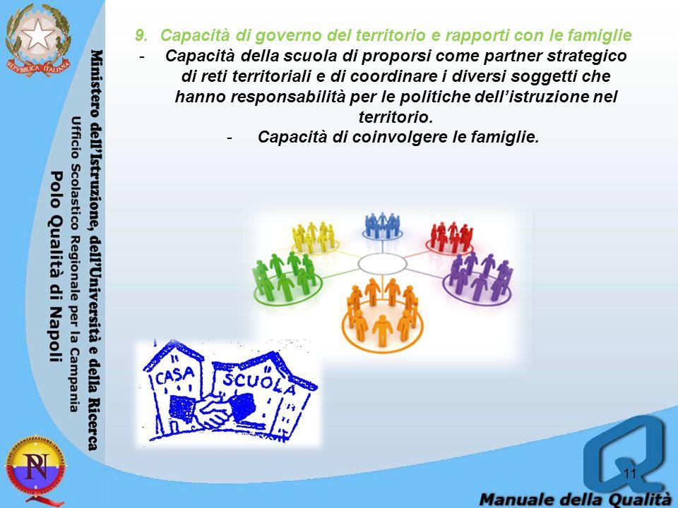 Capacità di governo del territorio e rapporti con le famiglie