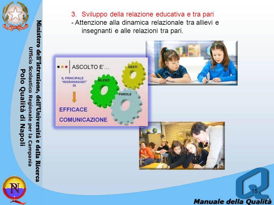 Sviluppo della relazione educativa e tra pari