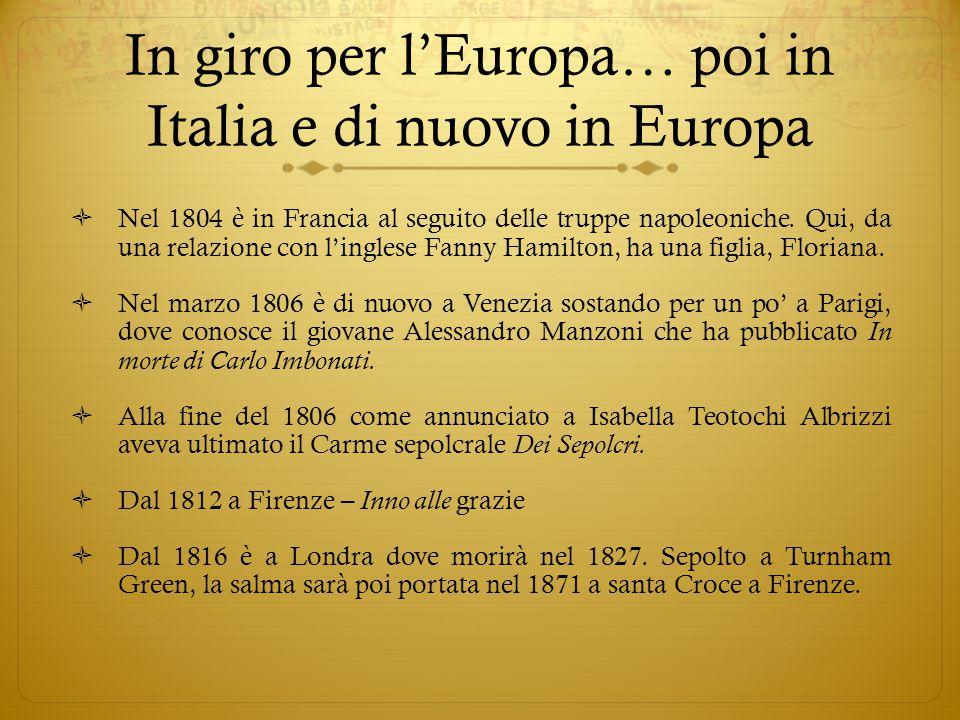 In giro per l'Europa… poi in Italia e di nuovo in Europa