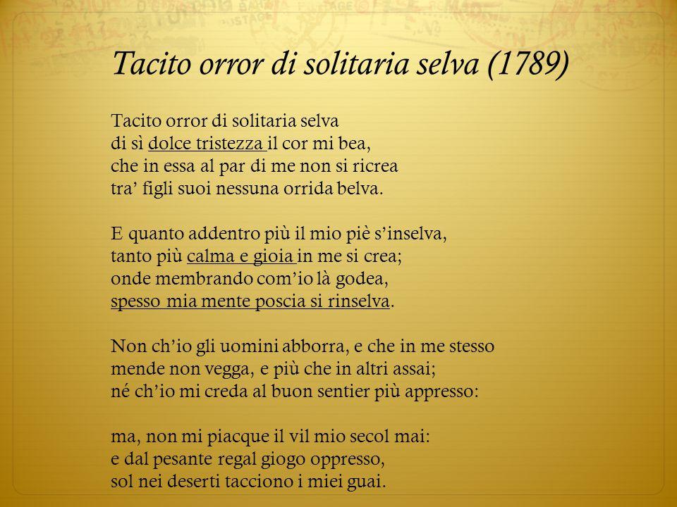 Tacito orror di solitaria selva (1789)