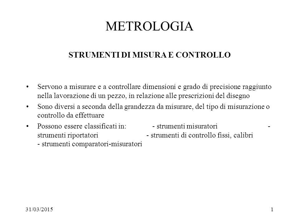 METROLOGIA STRUMENTI DI MISURA E CONTROLLO