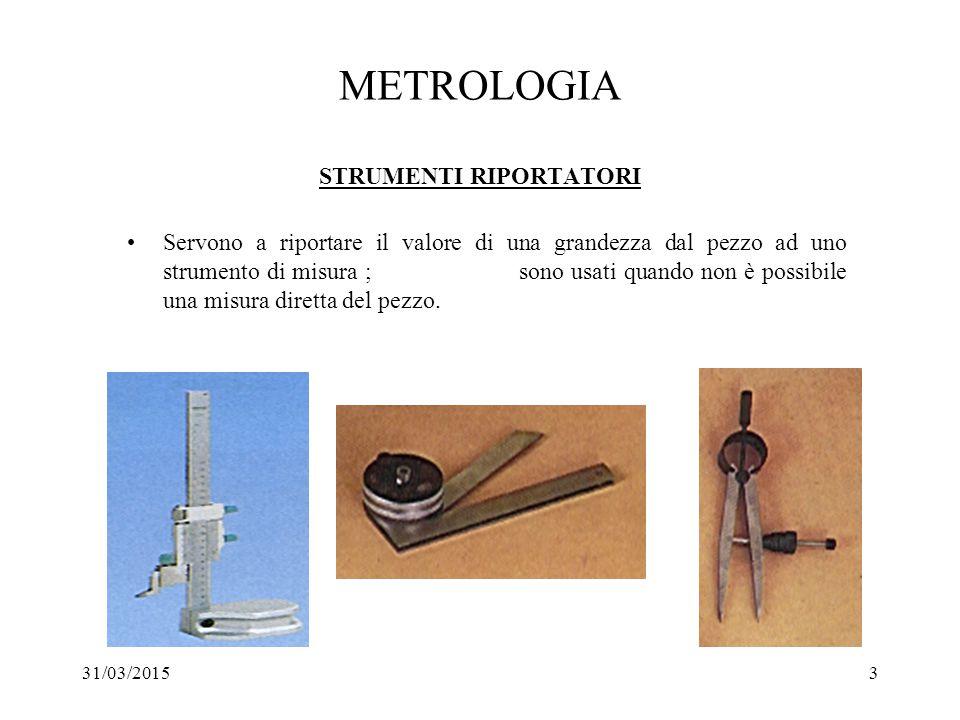 METROLOGIA STRUMENTI RIPORTATORI