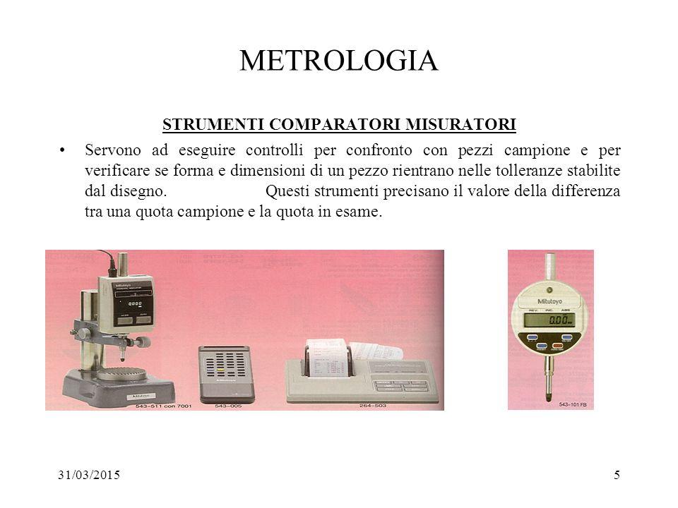 METROLOGIA STRUMENTI COMPARATORI MISURATORI