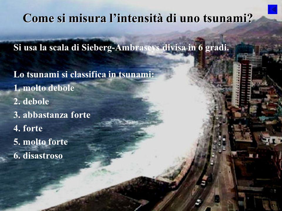 Come si misura l'intensità di uno tsunami