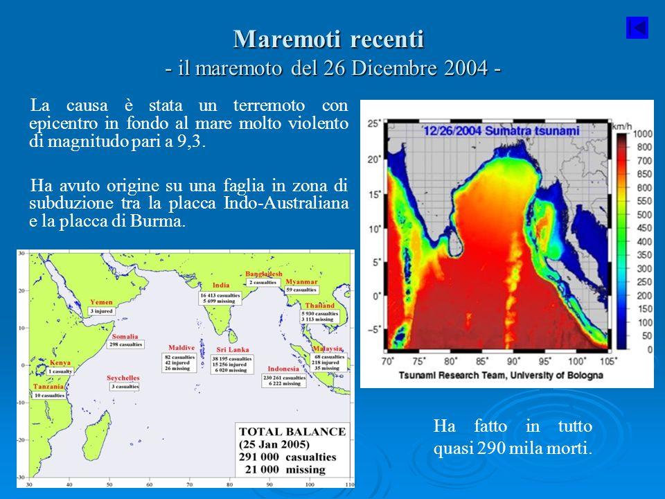Maremoti recenti - il maremoto del 26 Dicembre 2004 -