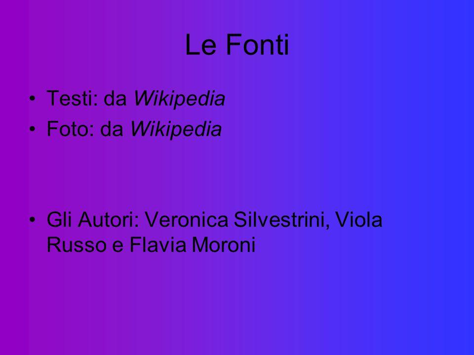 Le Fonti Testi: da Wikipedia Foto: da Wikipedia