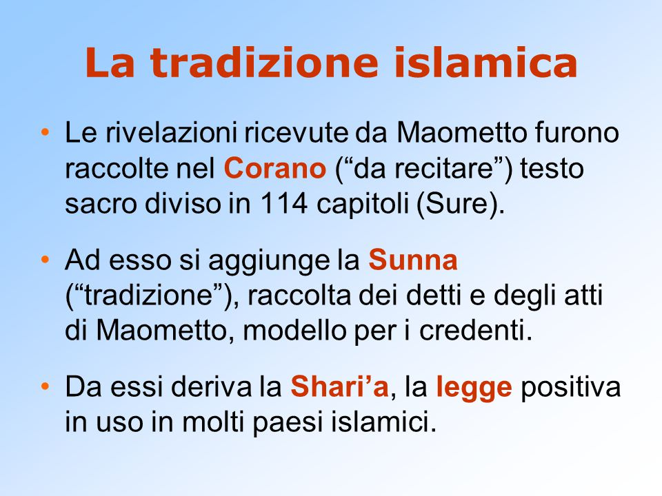La tradizione islamica