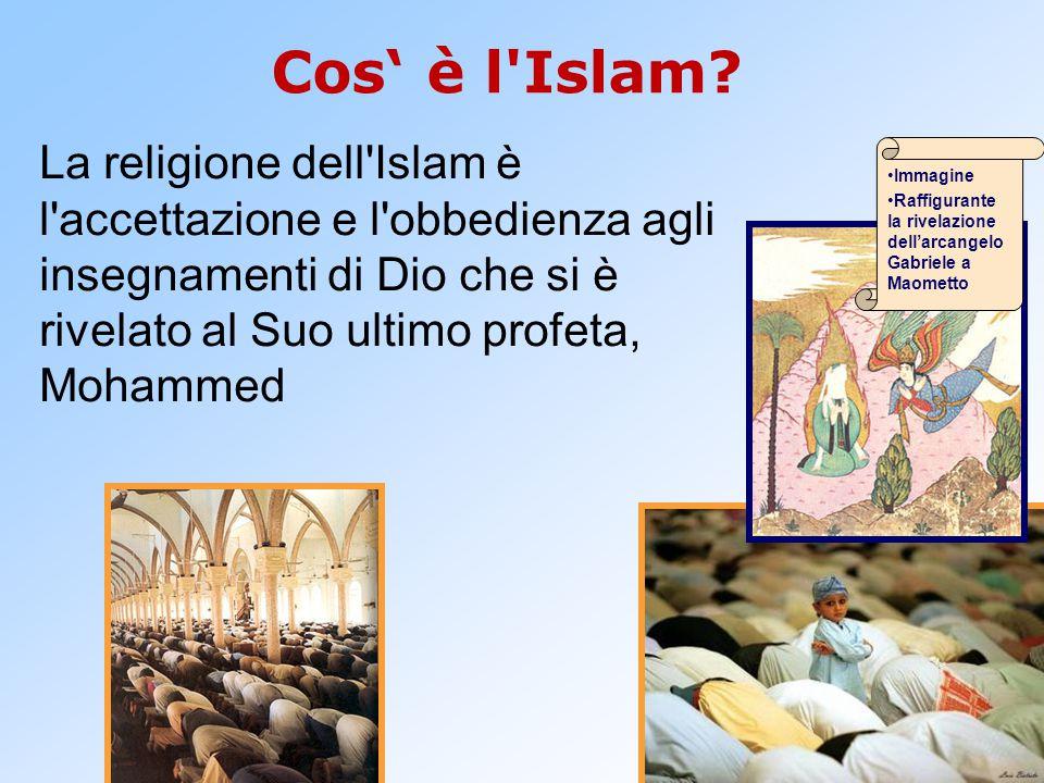 Cos' è l Islam La religione dell Islam è l accettazione e l obbedienza agli insegnamenti di Dio che si è rivelato al Suo ultimo profeta, Mohammed.