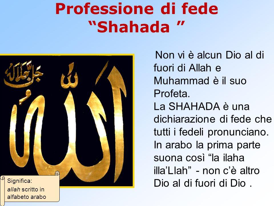 Professione di fede Shahada