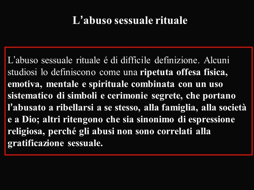 L'abuso sessuale rituale