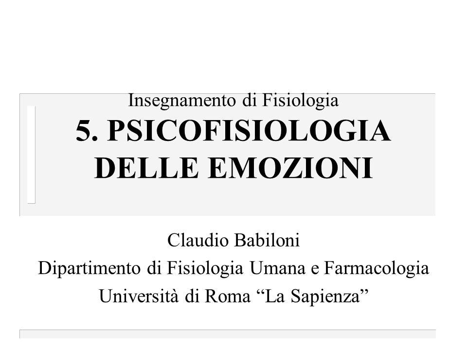 Insegnamento di Fisiologia 5. PSICOFISIOLOGIA DELLE EMOZIONI