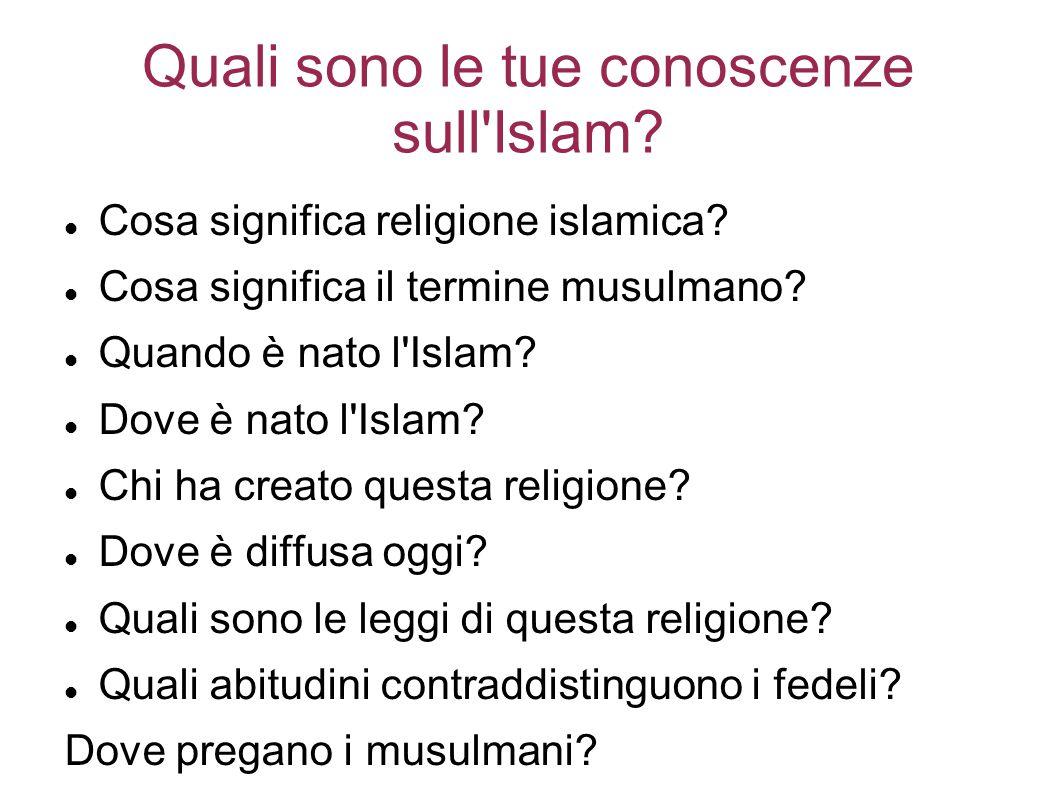 Quali sono le tue conoscenze sull Islam