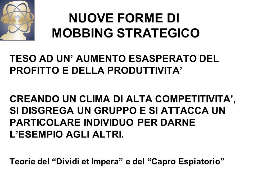 NUOVE FORME DI MOBBING STRATEGICO