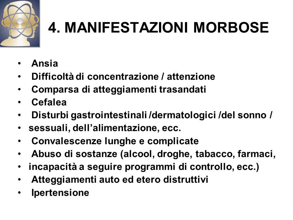 4. MANIFESTAZIONI MORBOSE