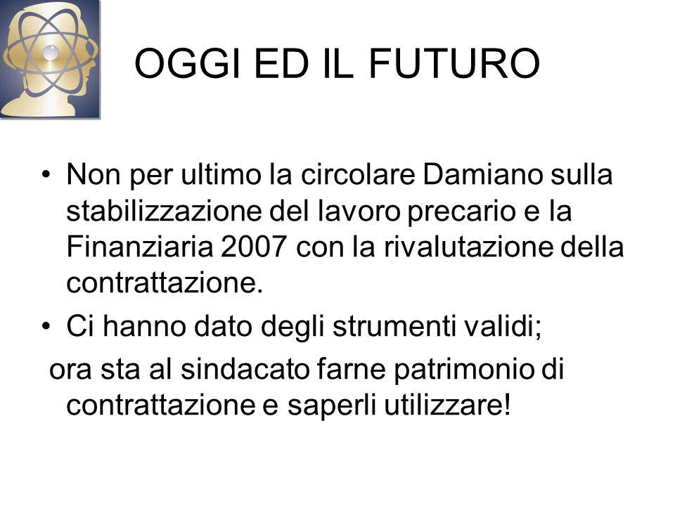 OGGI ED IL FUTURO