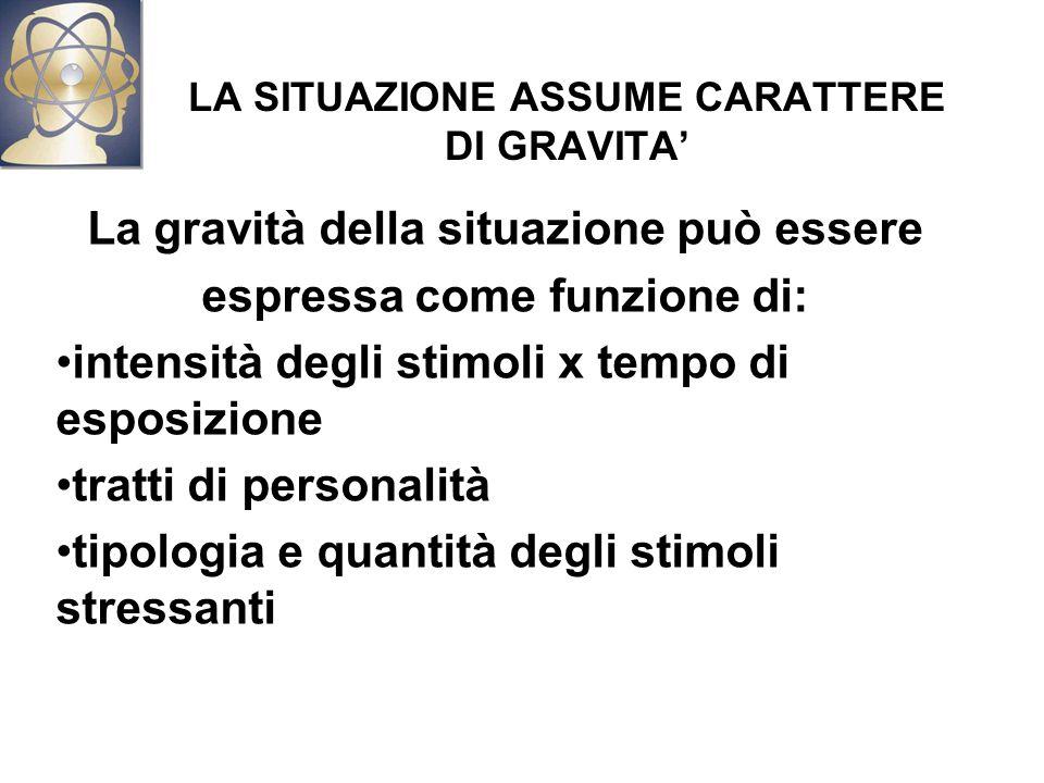 LA SITUAZIONE ASSUME CARATTERE DI GRAVITA'