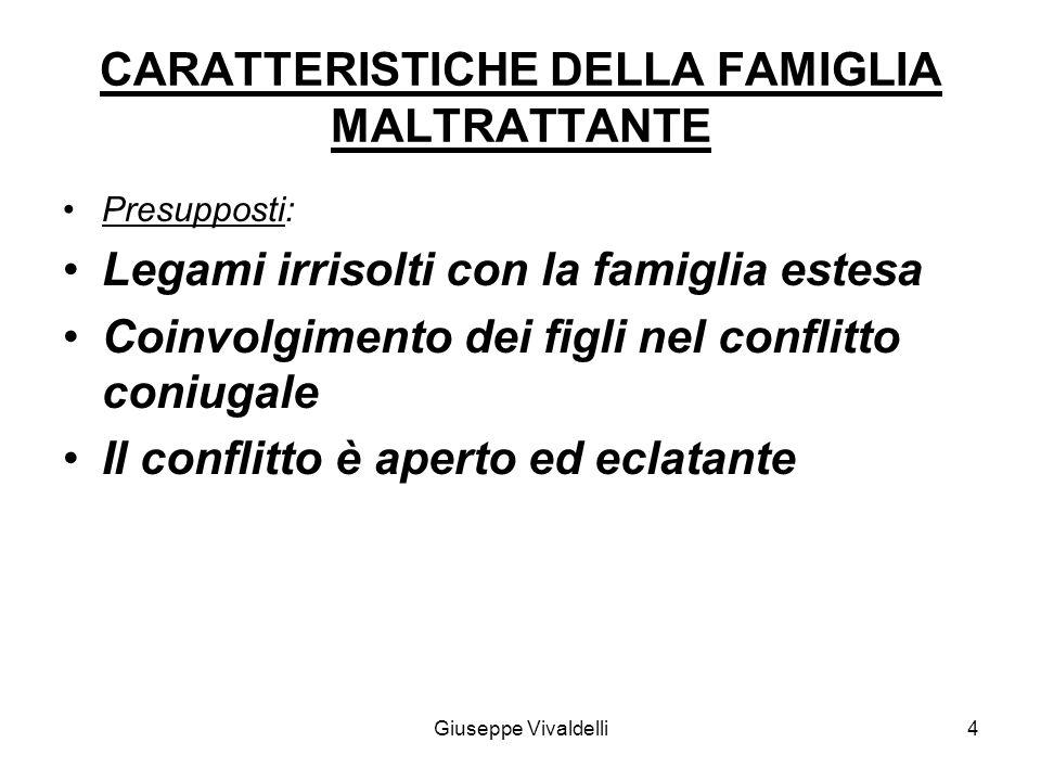 CARATTERISTICHE DELLA FAMIGLIA MALTRATTANTE