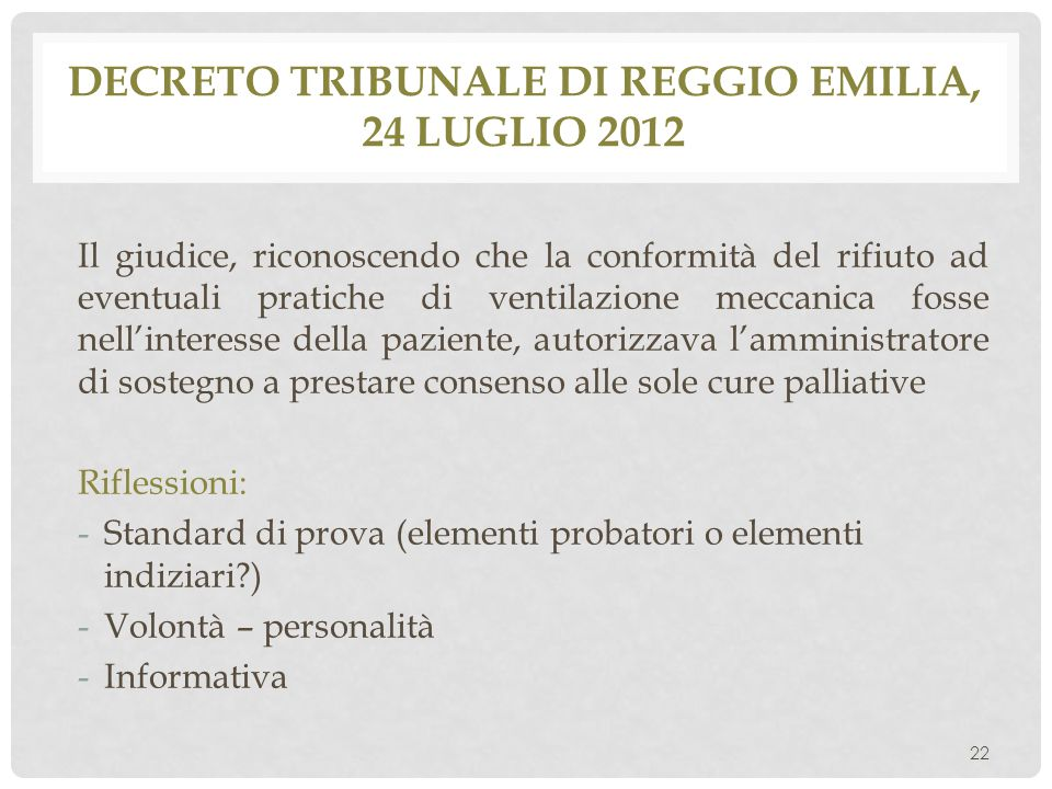 Decreto tribunale di reggio emilia, 24 luglio 2012