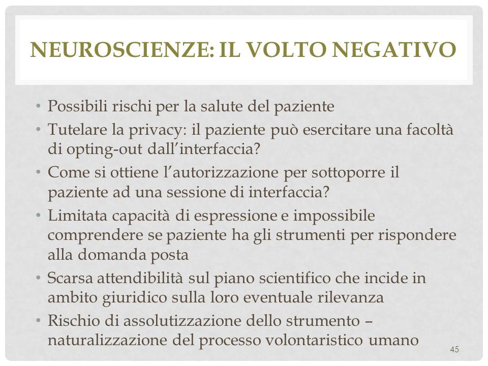 Neuroscienze: il volto negativo