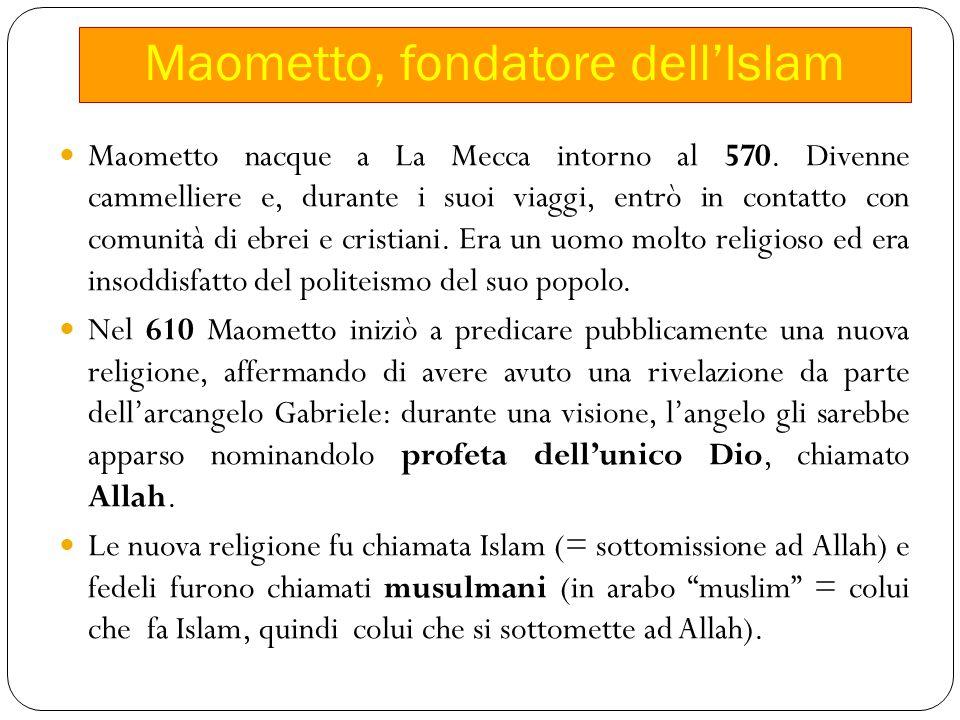Maometto, fondatore dell'Islam