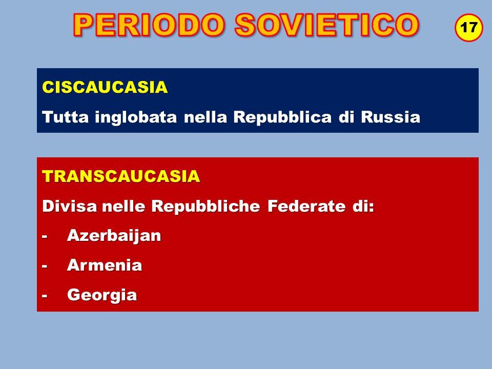 PERIODO SOVIETICO CISCAUCASIA