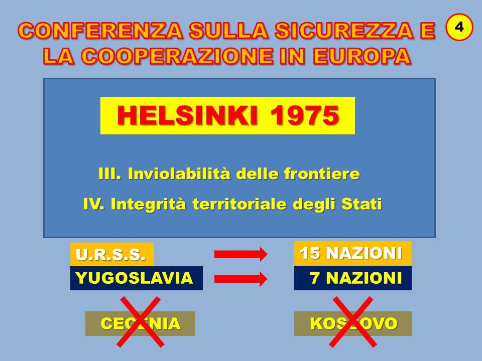 CONFERENZA SULLA SICUREZZA E LA COOPERAZIONE IN EUROPA