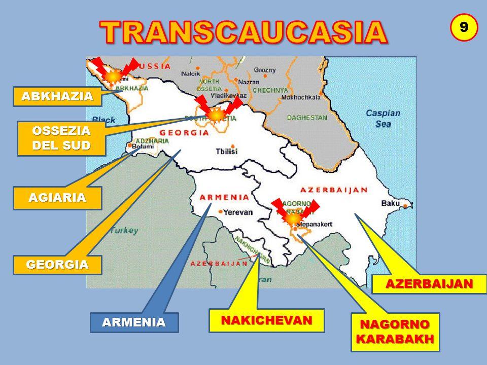 TRANSCAUCASIA 9 ABKHAZIA OSSEZIA DEL SUD AGIARIA GEORGIA AZERBAIJAN