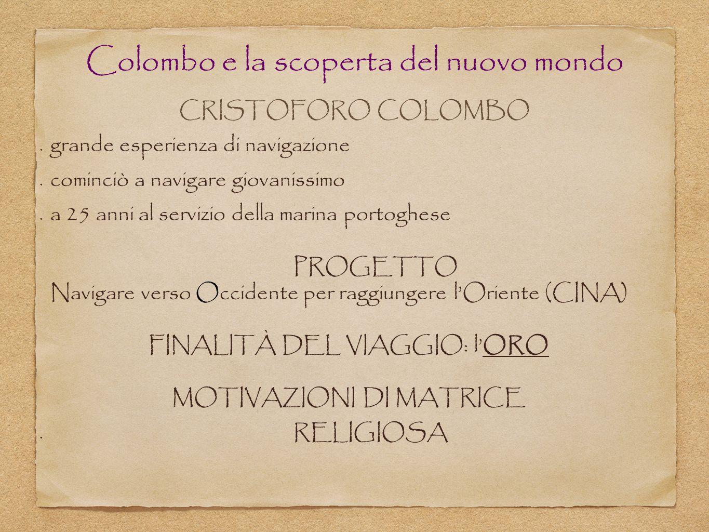 Colombo e la scoperta del nuovo mondo