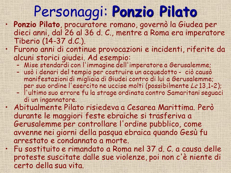 Personaggi: Ponzio Pilato