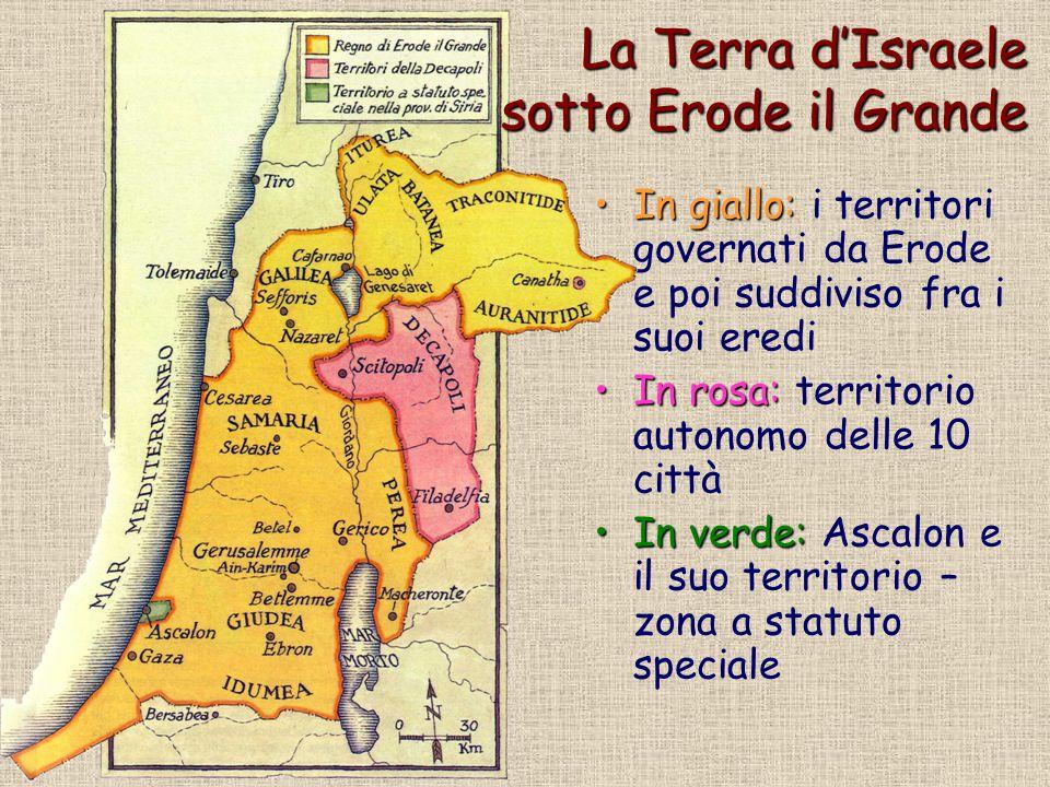 La Terra d'Israele sotto Erode il Grande