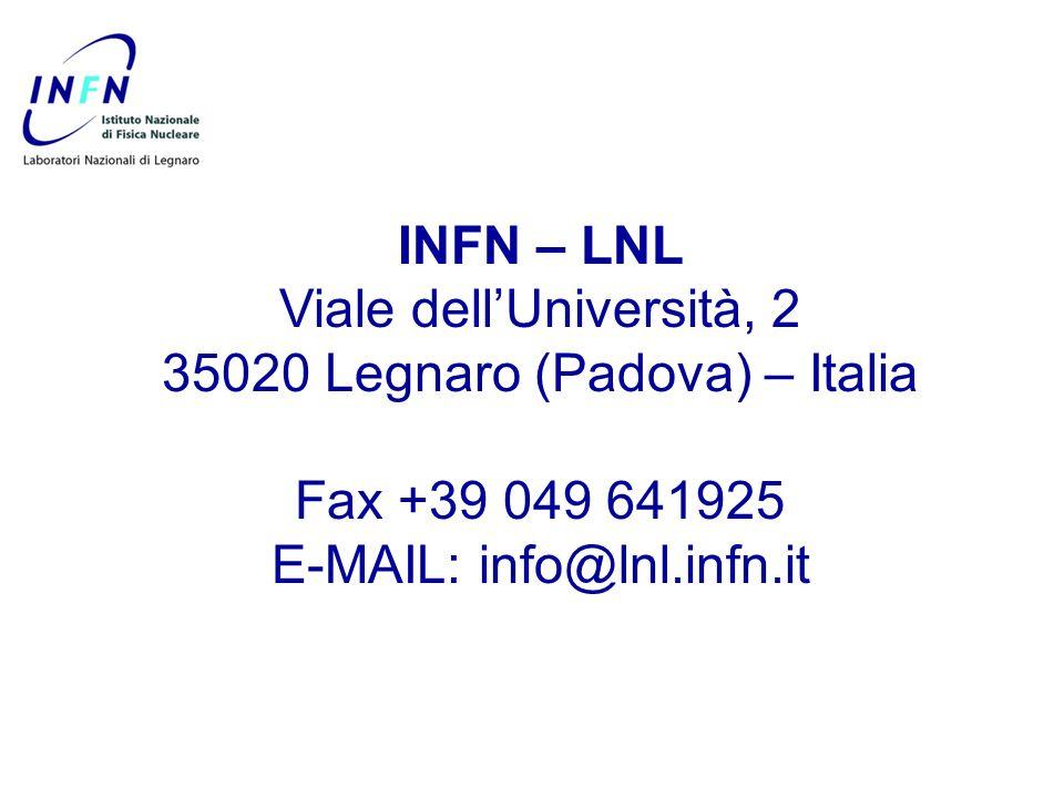 Viale dell'Università, 2 35020 Legnaro (Padova) – Italia