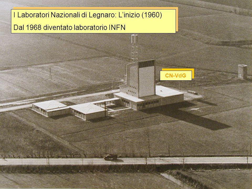 I Laboratori Nazionali di Legnaro: L'inizio (1960)