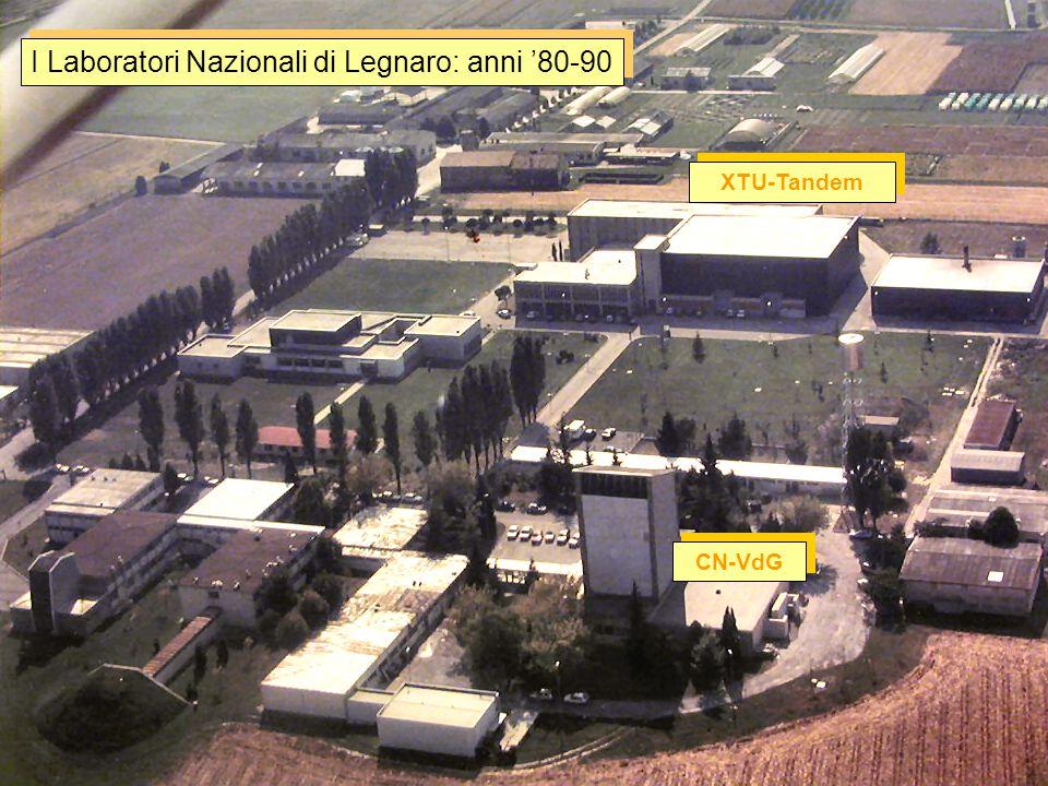 I Laboratori Nazionali di Legnaro: anni '80-90