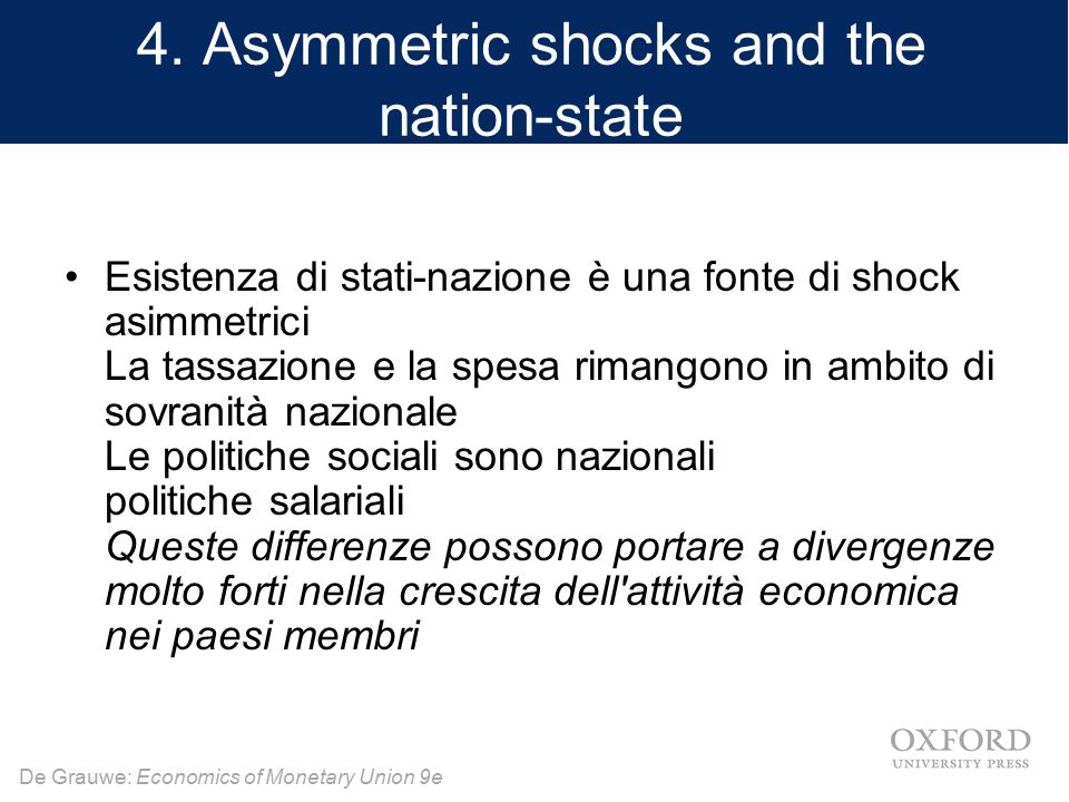 4. Asymmetric shocks and the nation-state
