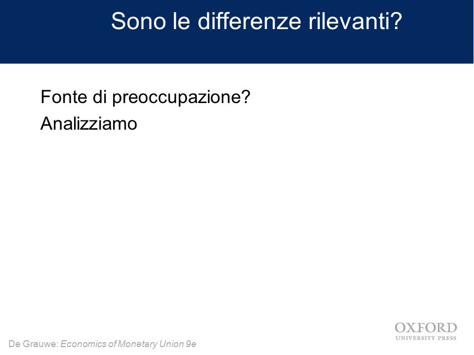 Sono le differenze rilevanti