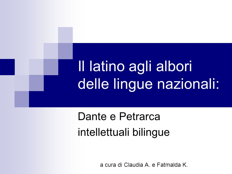 Il latino agli albori delle lingue nazionali: