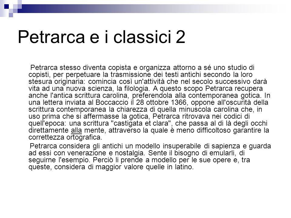Petrarca e i classici 2