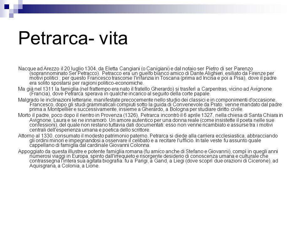 Petrarca- vita