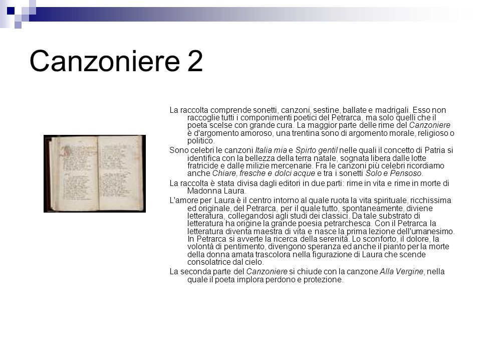 Canzoniere 2