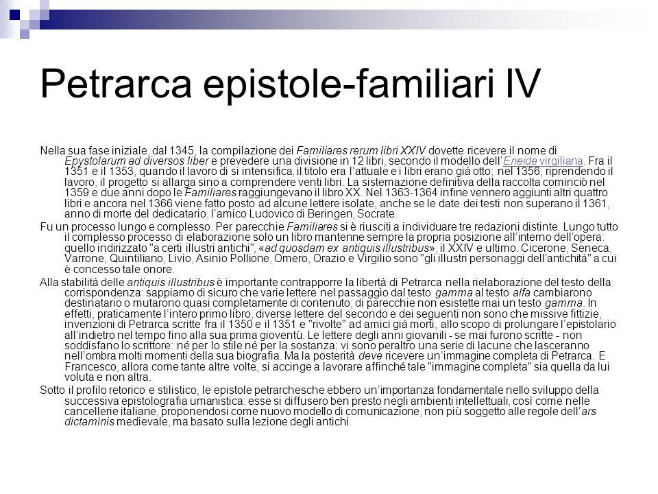 Petrarca epistole-familiari IV