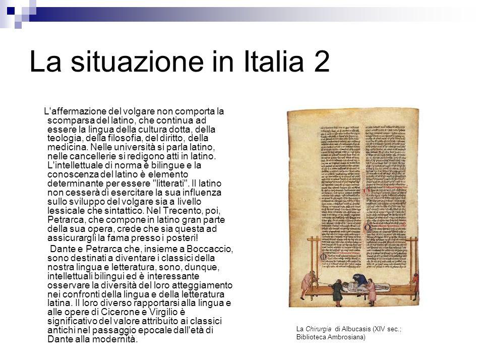 La situazione in Italia 2