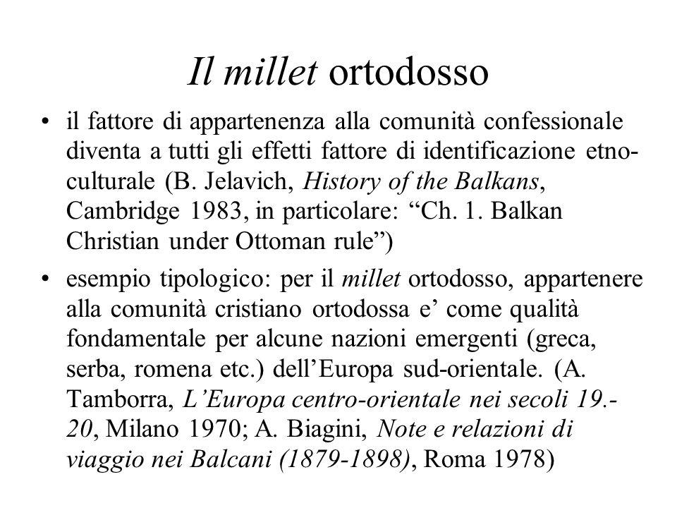 Il millet ortodosso