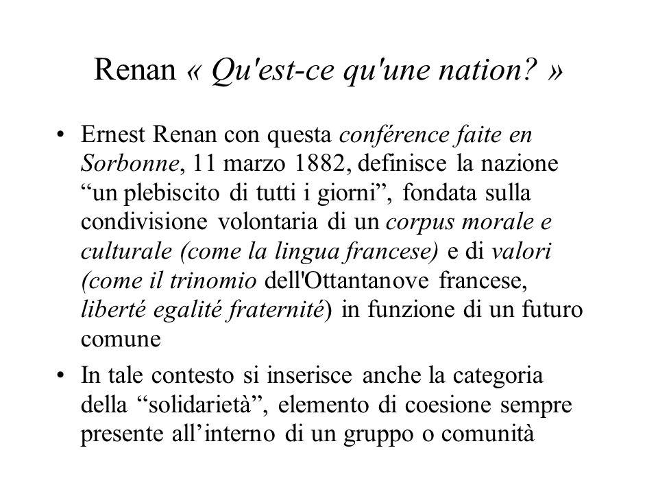 Renan « Qu est-ce qu une nation »