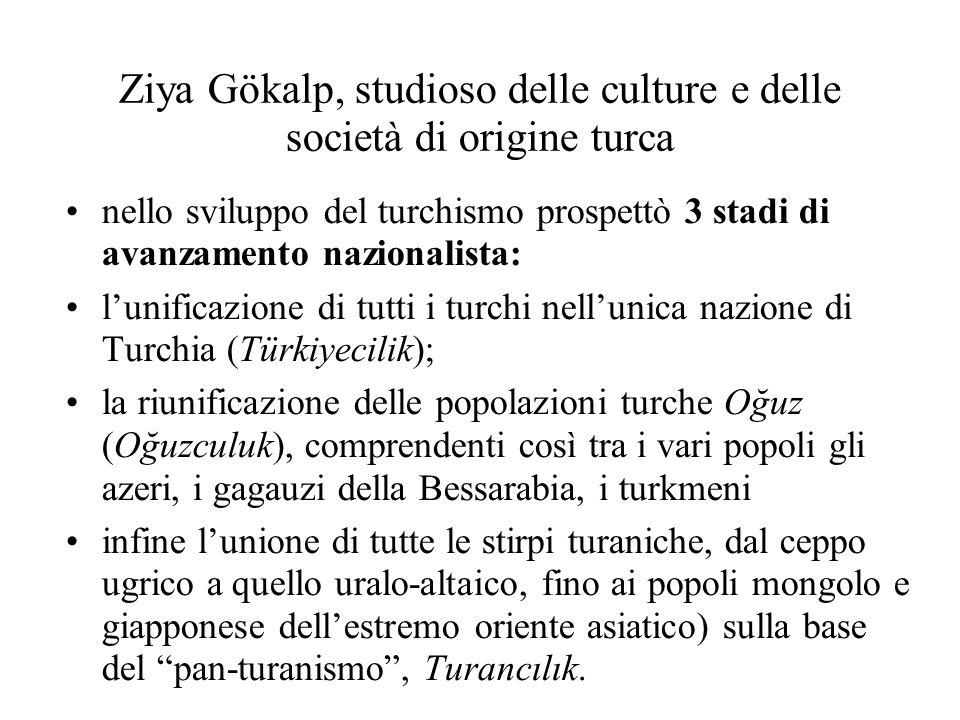 Ziya Gökalp, studioso delle culture e delle società di origine turca