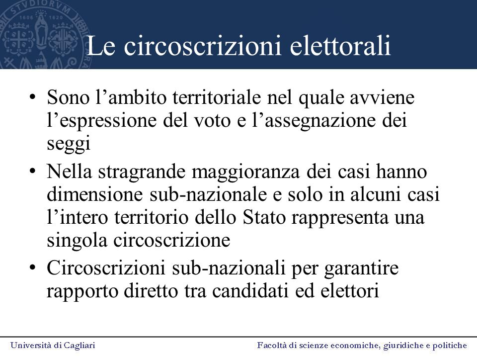 Le circoscrizioni elettorali