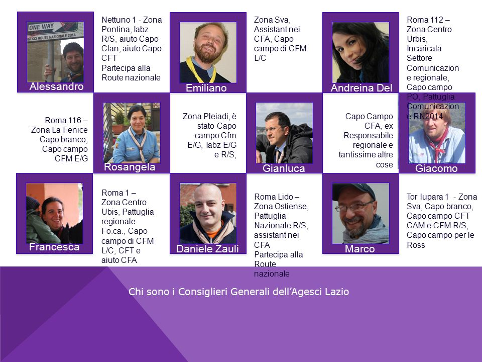 Chi sono i Consiglieri Generali dell'Agesci Lazio