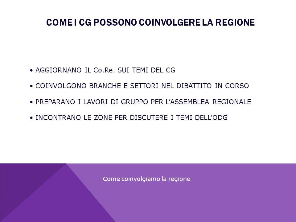 COME I CG POSSONO COINVOLGERE LA REGIONE