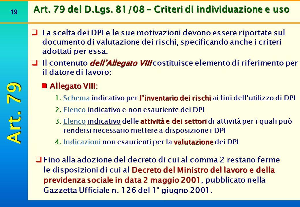 Indicazioni di carattere generale relative a protezioni particolari