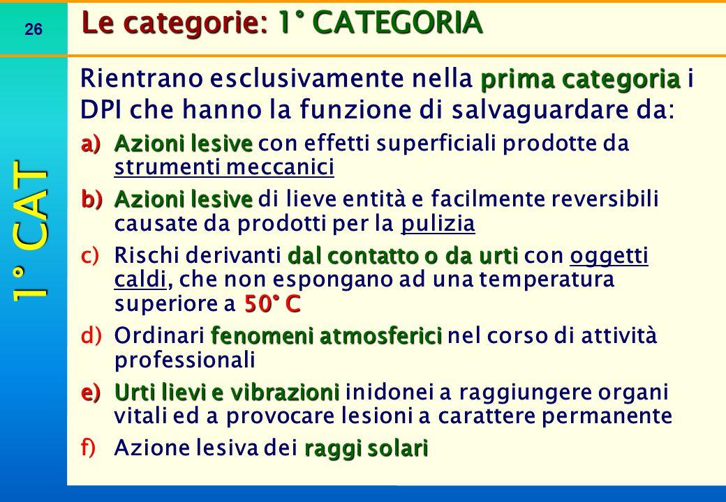 Le categorie: 3° CATEGORIA