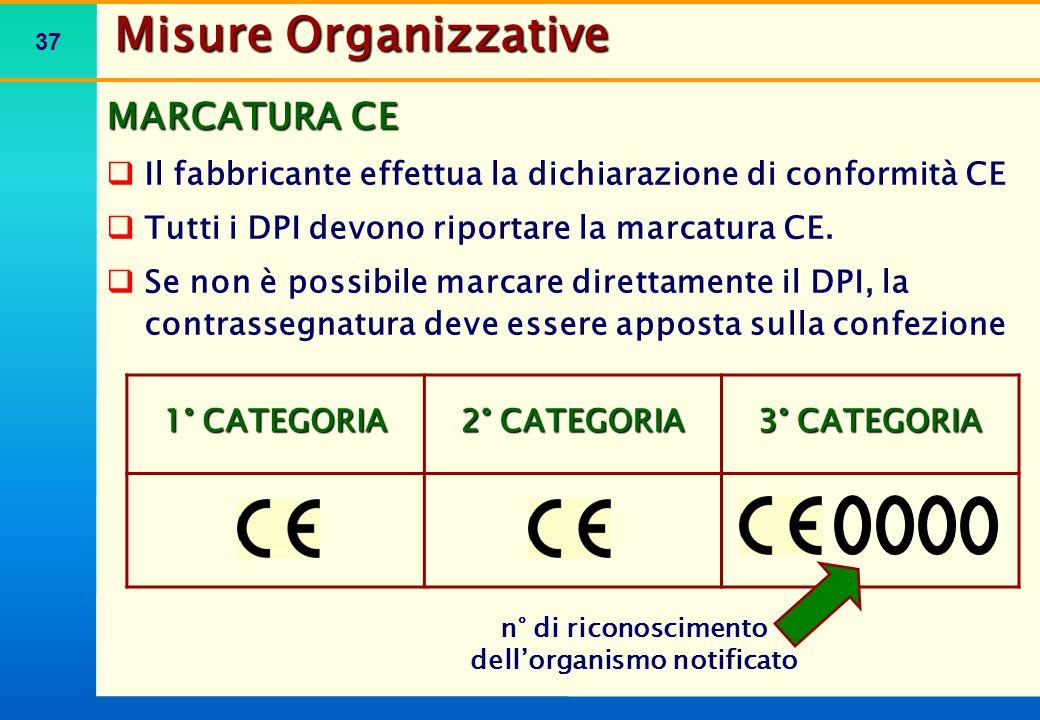 Misure Organizzative MARCATURA DI RICONOSCIMENTO